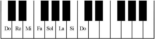 Tên các nốt nhạc trên phím đàn Organ